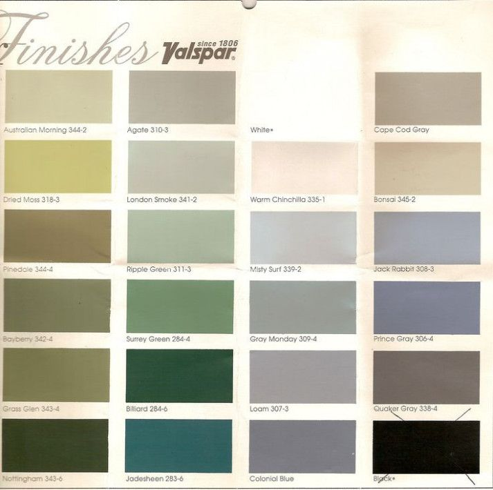 valspar cabinet enamel color chart - Google Search