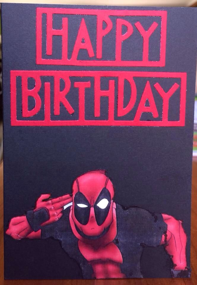 Deadpool Card Rellb The Craftree Just Saving The Day