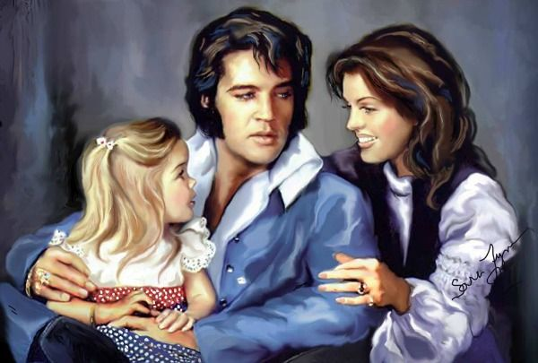 Elvis, Priscilla and Lisa Marie