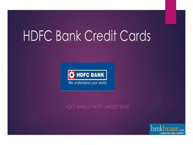 Hdfc Bank Credit Card Offers By Priya99595 Via Authorstream