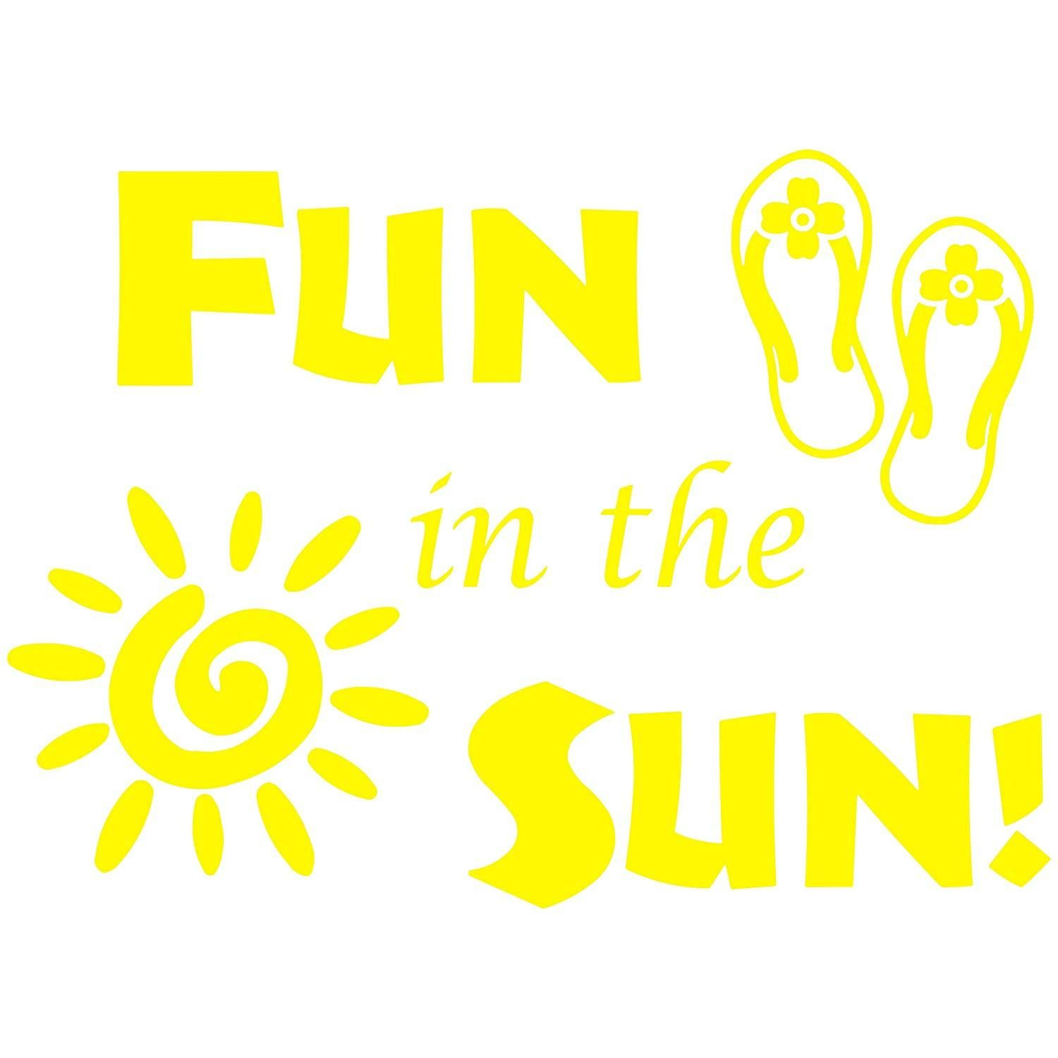 Vwaq Fun In The Sun Sticker Fun Wall Decals Quotes Sun Vinyl