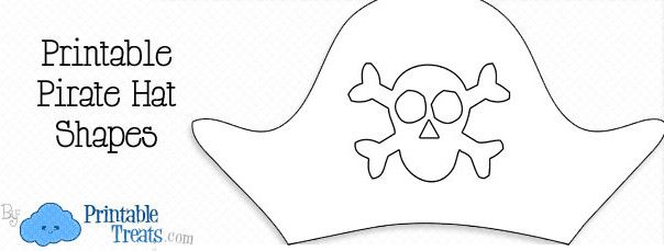 free printable pirate hat template camp frontier pinterest