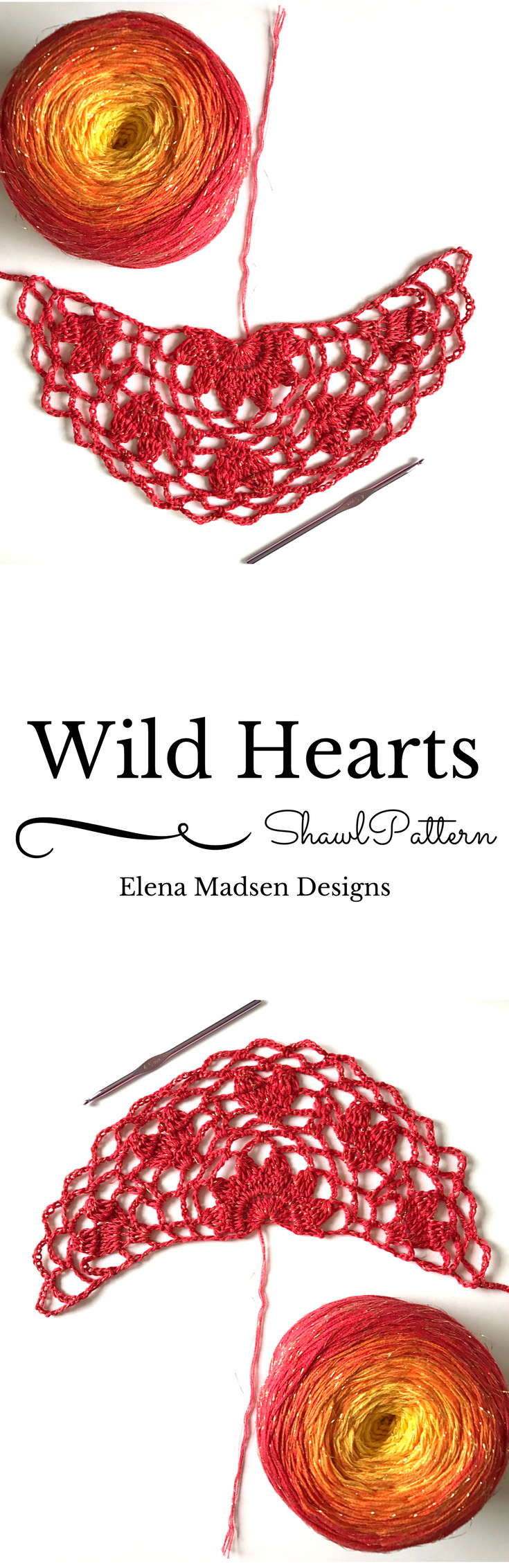 Crochet Wild Hearts shawl in the making! This will look gorgeous in ...