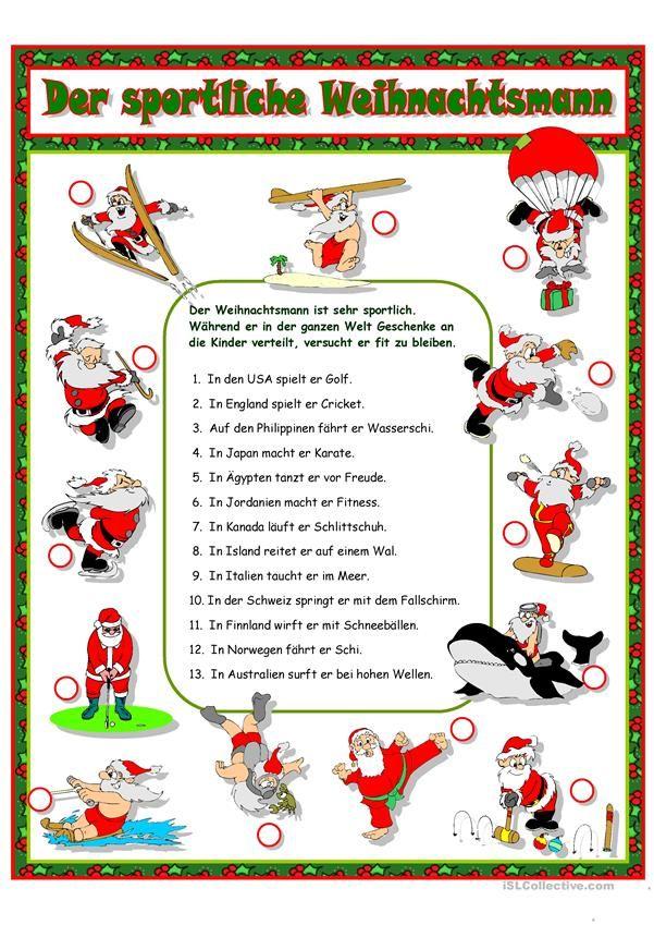 Το σπορ Άγιος Βασίλης | WEIHNACHTEN | Pinterest | Deutsch
