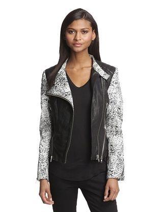 3c2b461dae1e3 62% OFF W118 Walter Baker Women s Liz Leather Moto Jacket (Black ...