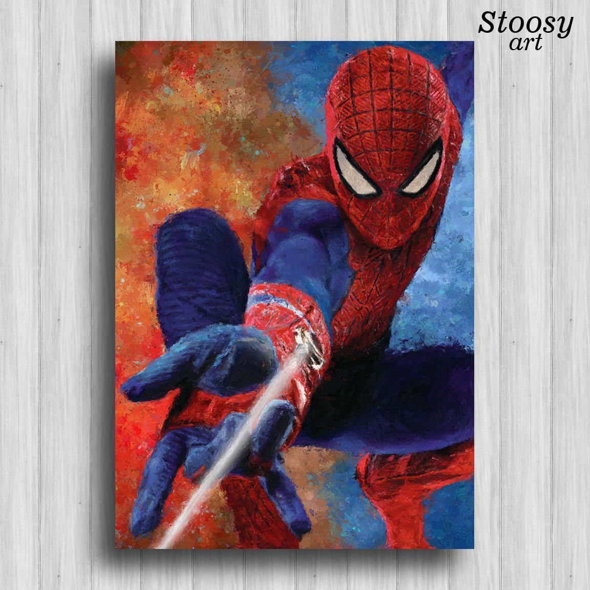 Spiderman poster, marvel art, super hero art, marvel print ...