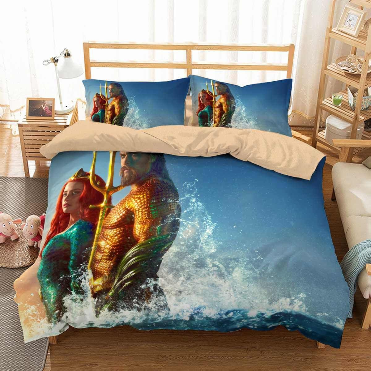 3d Customize Aquaman Bedding Set Duvet Cover Set Bedroom Set