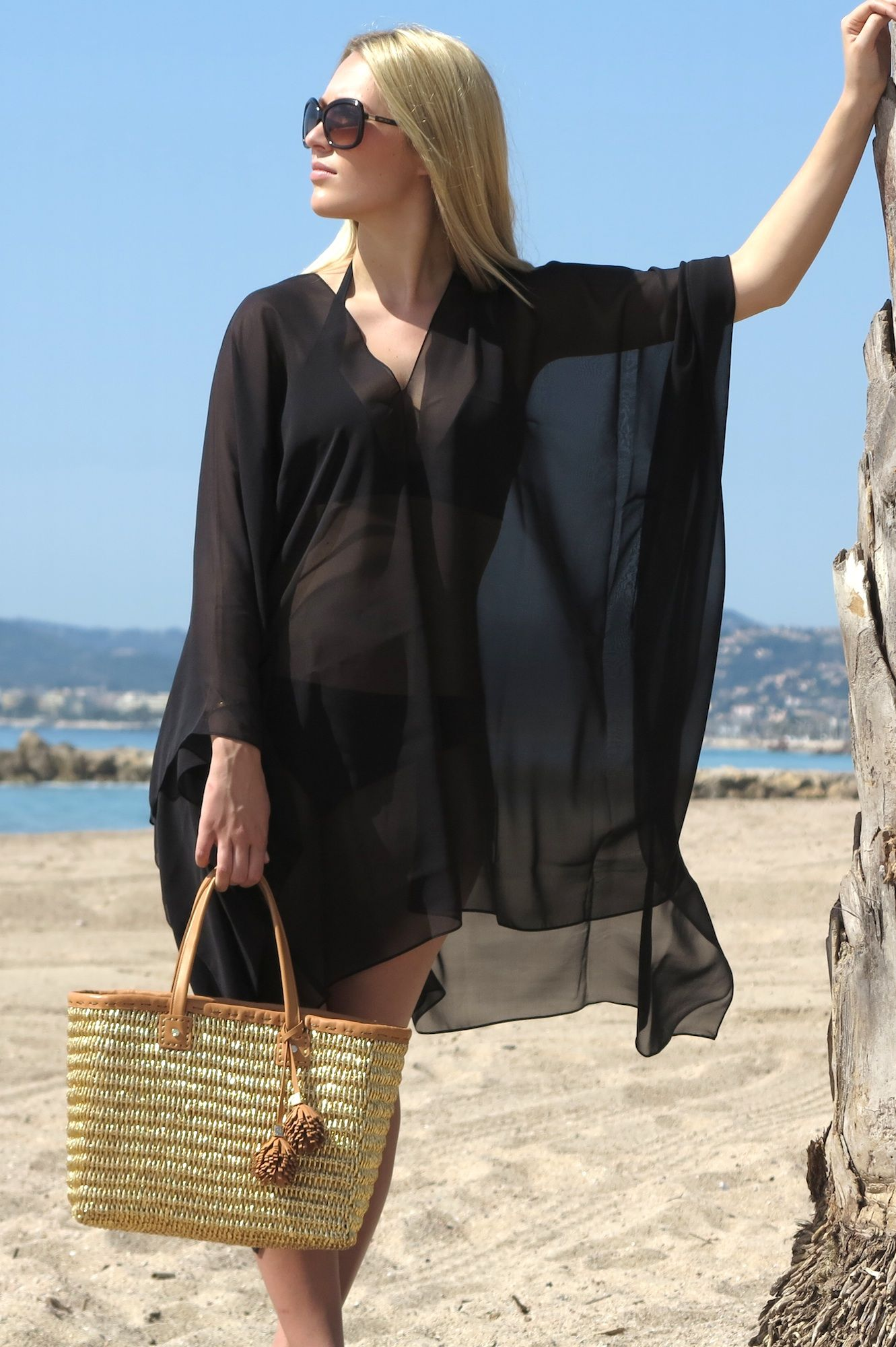 bccb603fce Nothing like a plain black beach cover up... Online Luxury Beachwear and Cover  Ups | black tahiti cover up