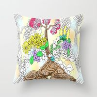 Throw Pillow featuring Ikebana Spring by KeijKidz