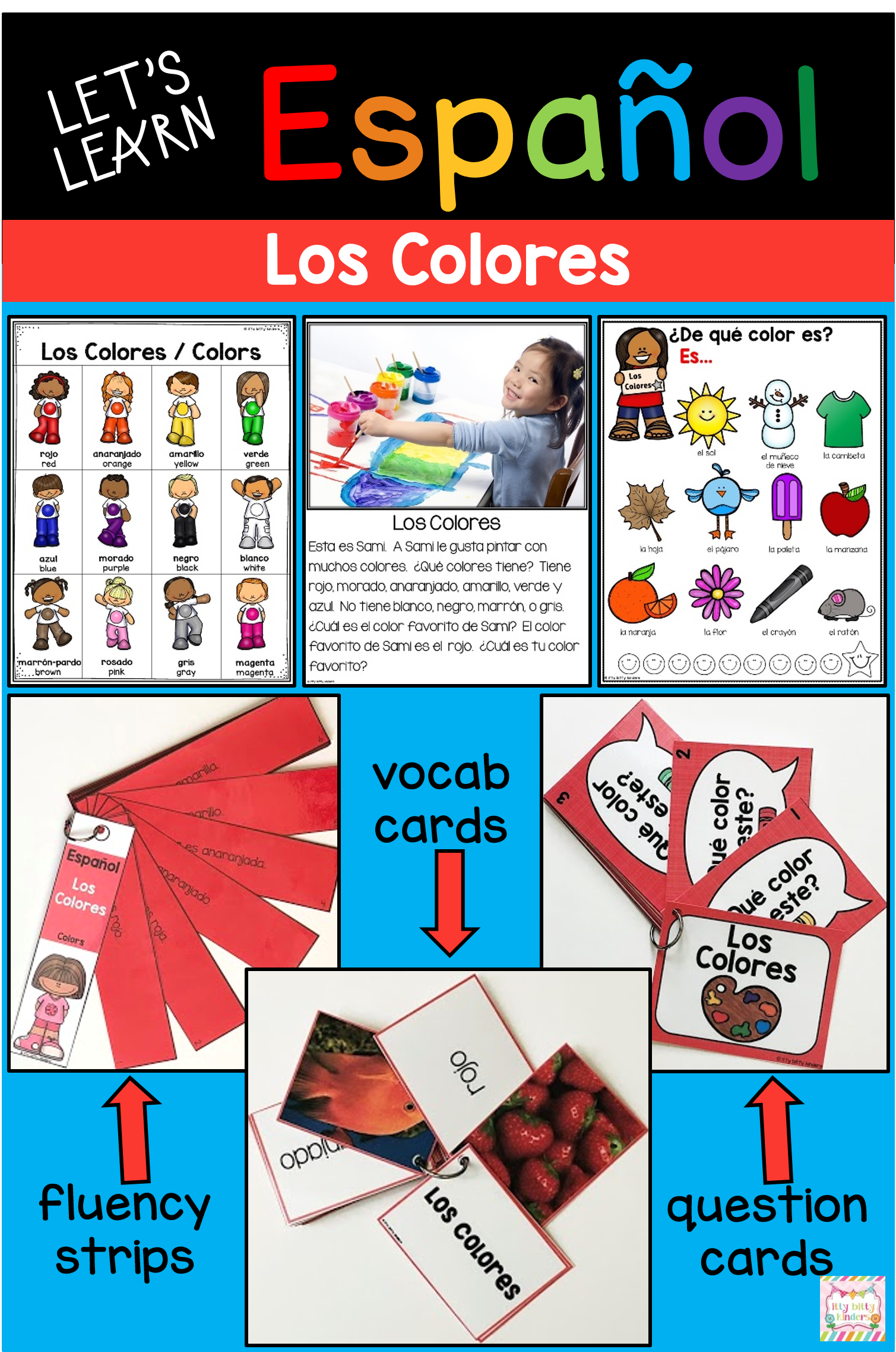 Colors In Spanish Spanish Vocabulary Let S Learn Espanol