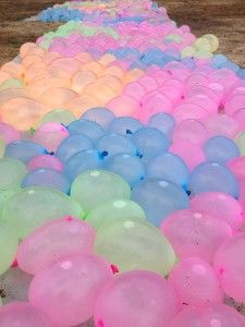 Here's a deep and eternal truth: fill a bunch of water balloons and you'll always have teenagers eager to launch them at their fellow humans.