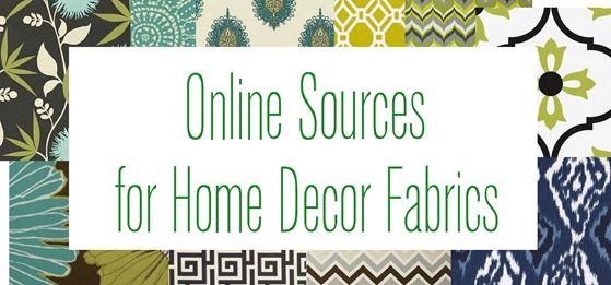 list of online sources for home decor fabric from Centsational Girl