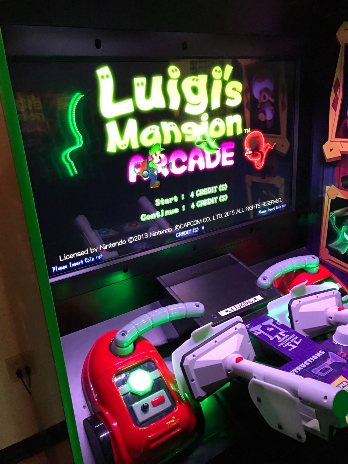arcade dedicated sega luigi