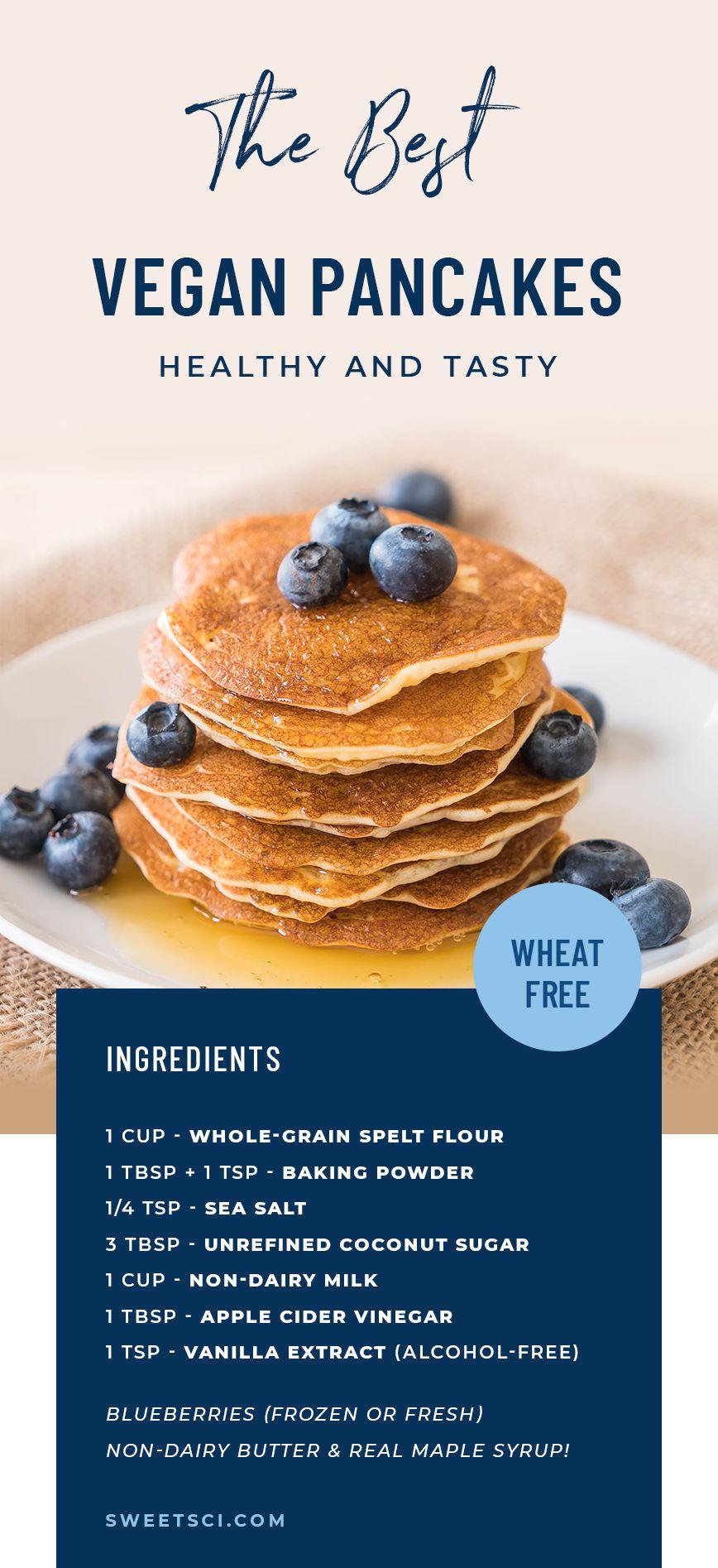 Sweet Science Wellness Healthy Spelt Vegan Pancakes Vegan Pancakes Plant Based Pancakes Wheat Free Pancakes