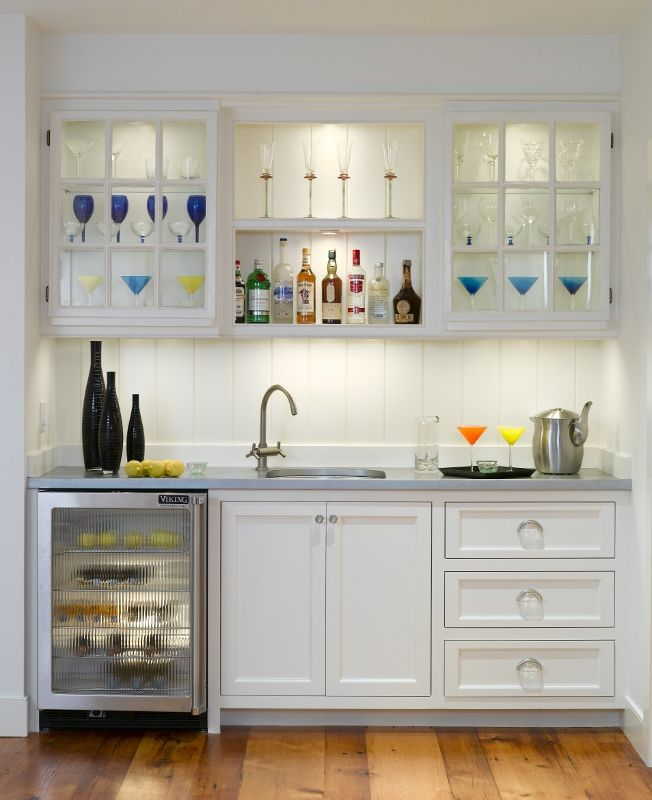 Nice Bar Space With A Sink And Small Under Counter Refrigerator