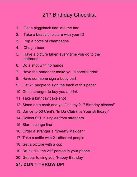 21 things to do