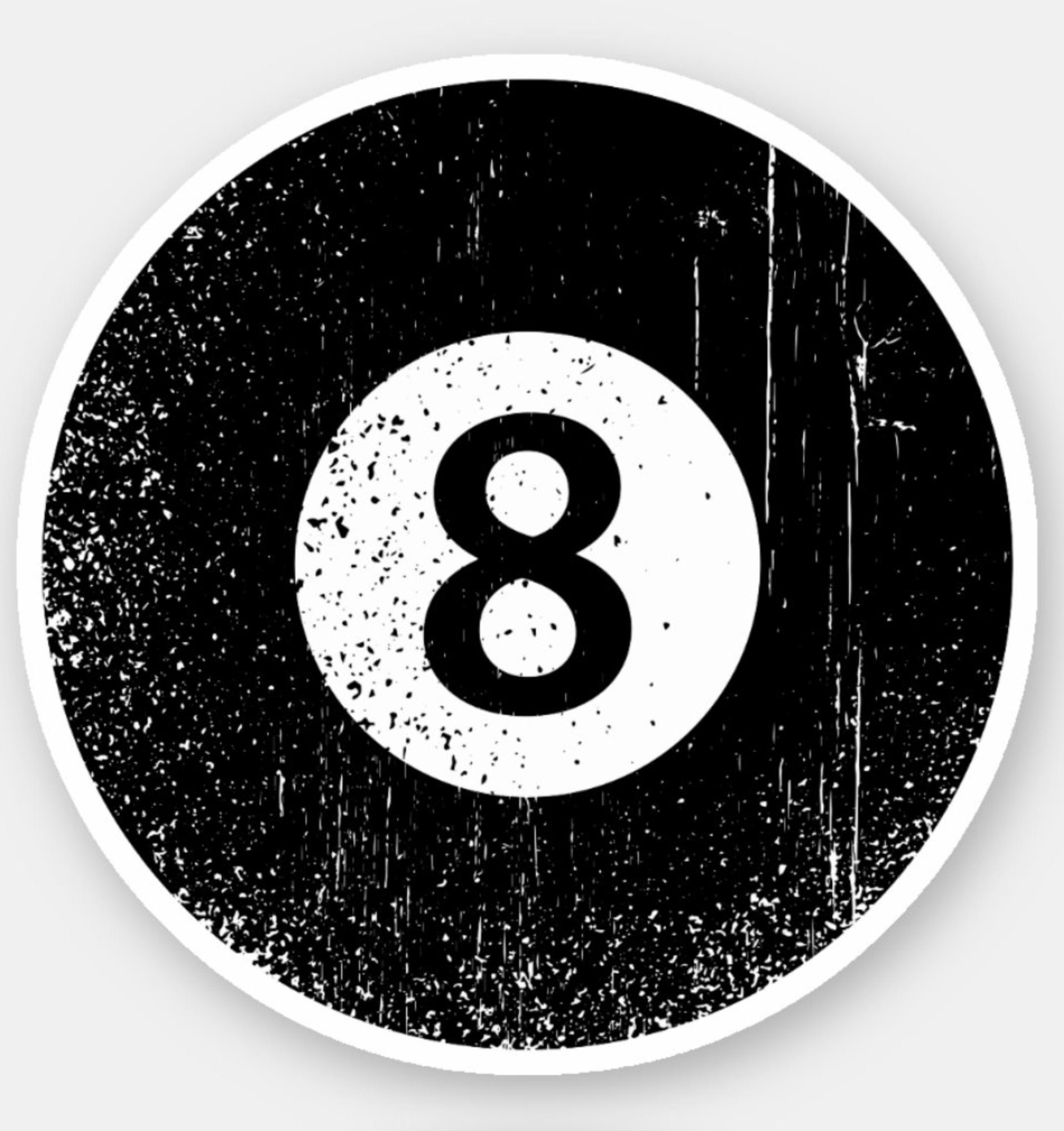 Worn Distressed Grunge Eight Ball Sticker Zazzle Com In 2021 Grunge Macbook Stickers Design Your Own Stickers