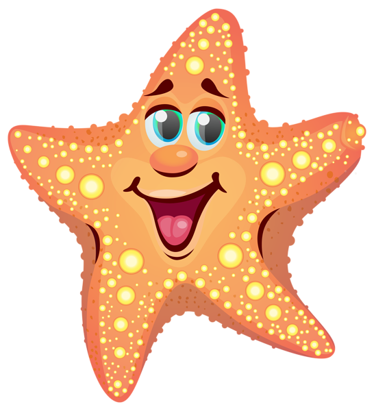 cartoon starfish png clipart image summer clip pinterest rh pinterest com Clam No Background Starfish Clip Art No Background