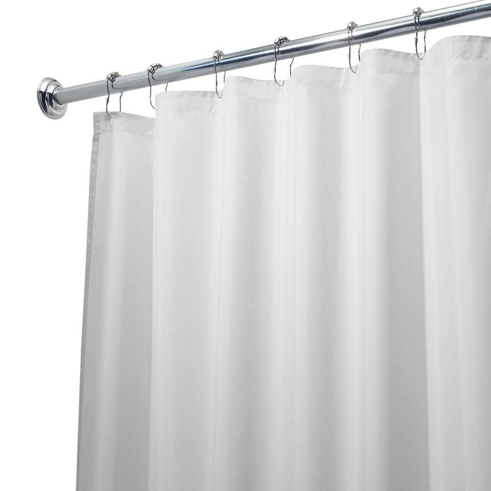 Interdesign Poly Waterproof Stall Size Shower Curtain Liner In