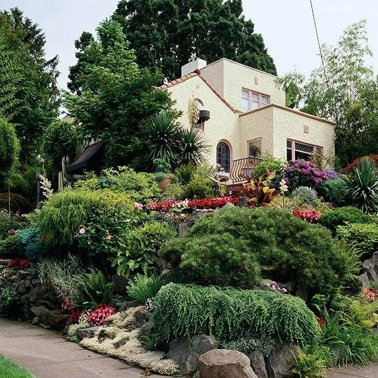 Frontyard Rock Garden Design Cottage Garden Ideas