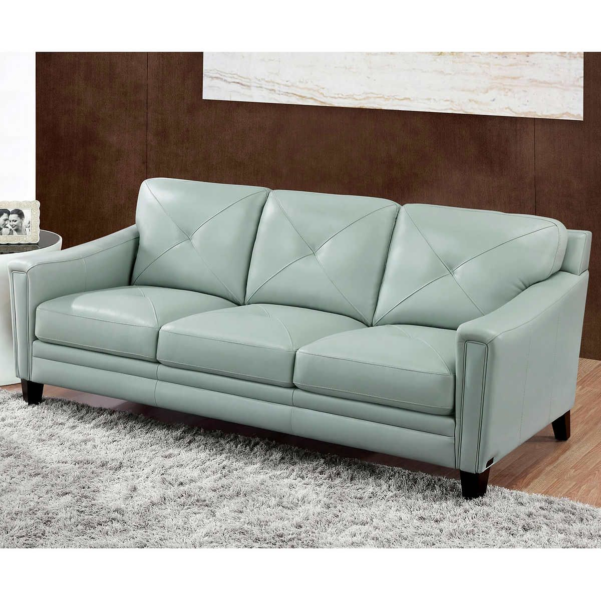 Pin By James Giel On Sofa In 2020 Blue Leather Sofa Light Blue Leather Couch Top Grain Leather Sofa