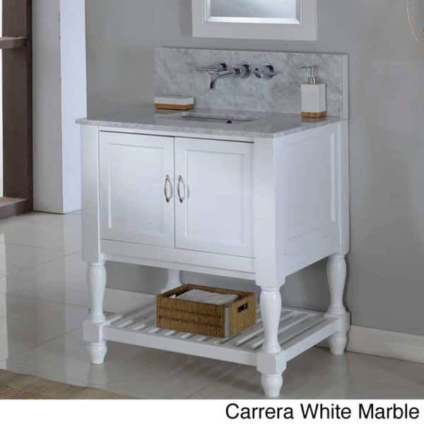 Direct Vanity 32-inch Pearl White Mission Turnleg Spa Premium Single