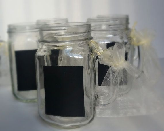 Chalkboard / Mason Jar / Gift ideas / Wedding ideas/ Chalkboard wedding / Country Chic