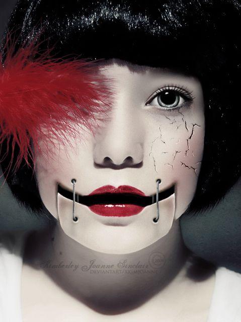 Amazing Doll Photo Manipulations  Halloween makeup, Crazy makeup, Doll makeup
