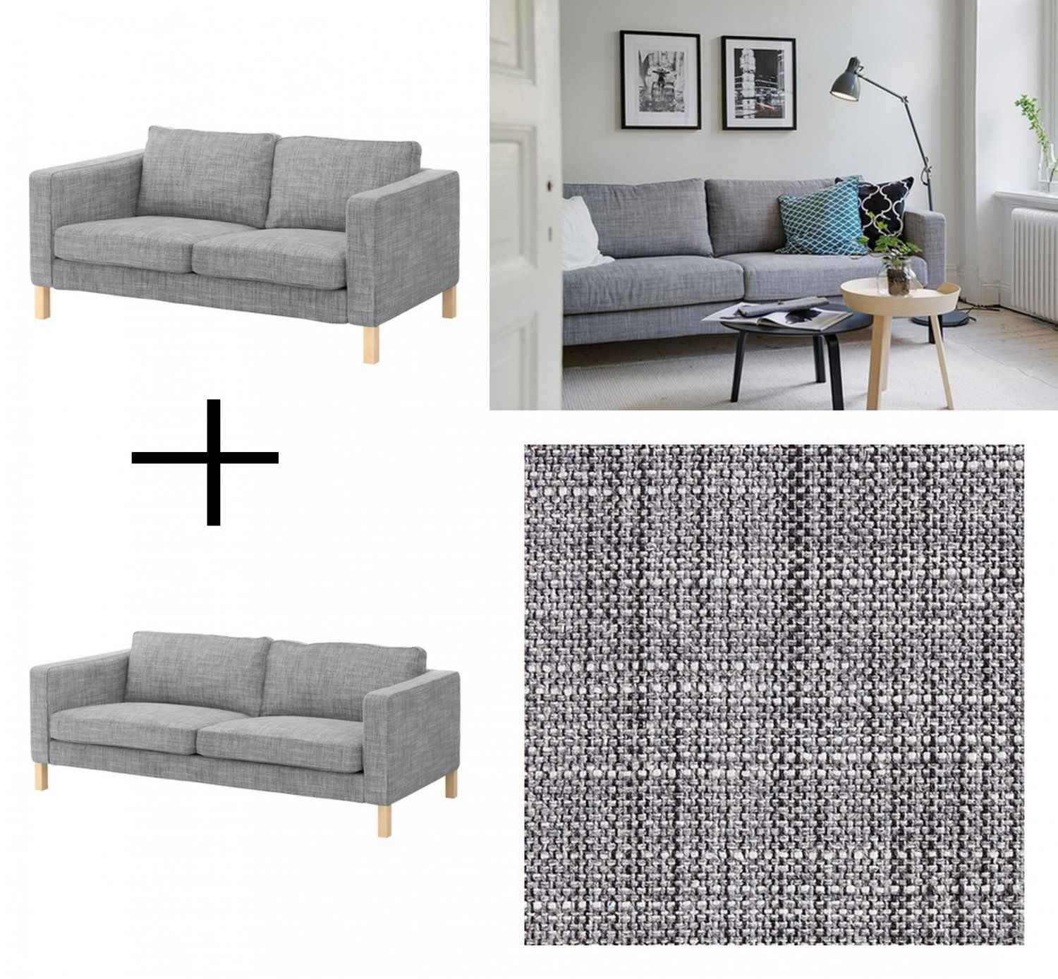 Ikea Karlstad Sofa And Loveseat Slipcover Cover Isunda Gray Grey Linen Blend 2 And 3 Seat Sofa Design Ikea Klippan Sofa Wohnzimmer Sofa