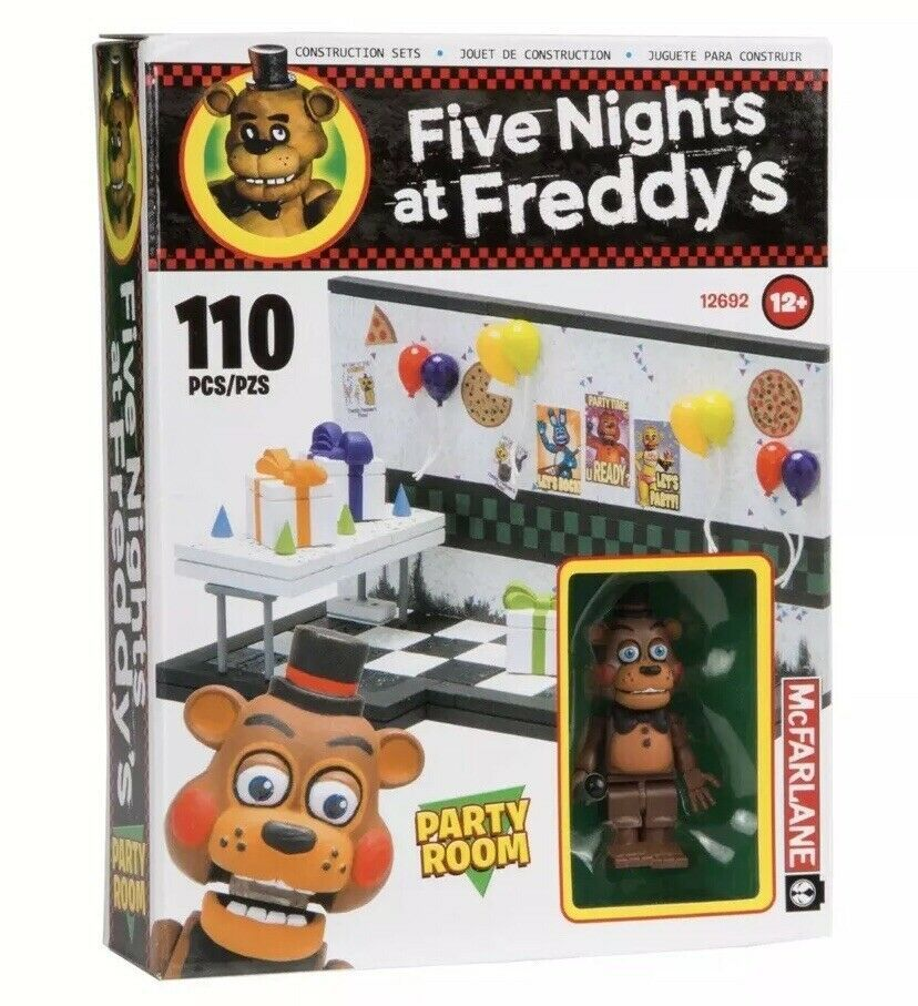 FNAF Lego Birthday Five Nights At Freddy/'s Nightmare McFarlane Toys Action Party