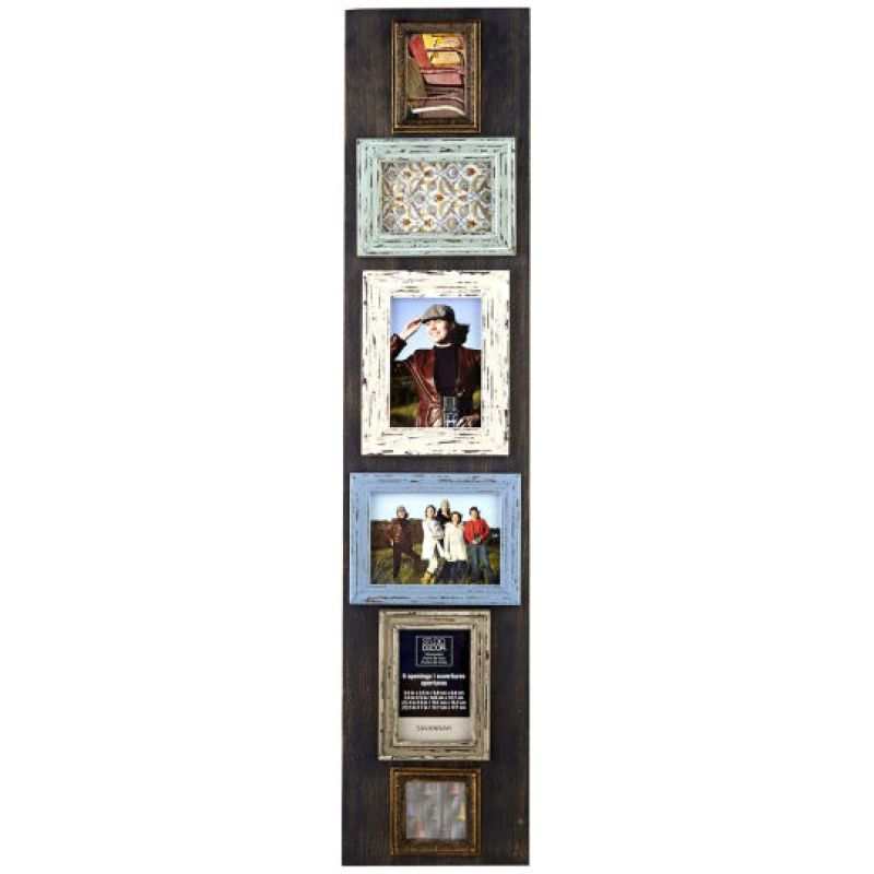Studio Décor Rustic 6-Opening Collage Frame | chats Savannah ...