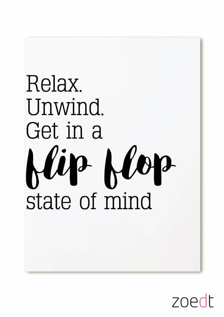 b4d8beb35 Kaart Relax Unwind Get in a flipflop state of mind - Zoedt