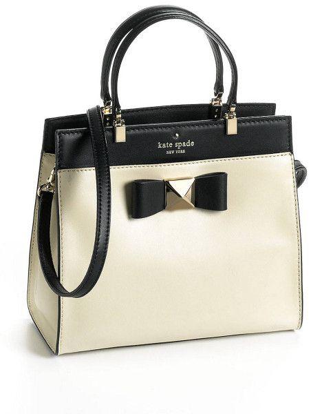 Women's White Leather Fulton Satchel Handbag | Kate spade ...