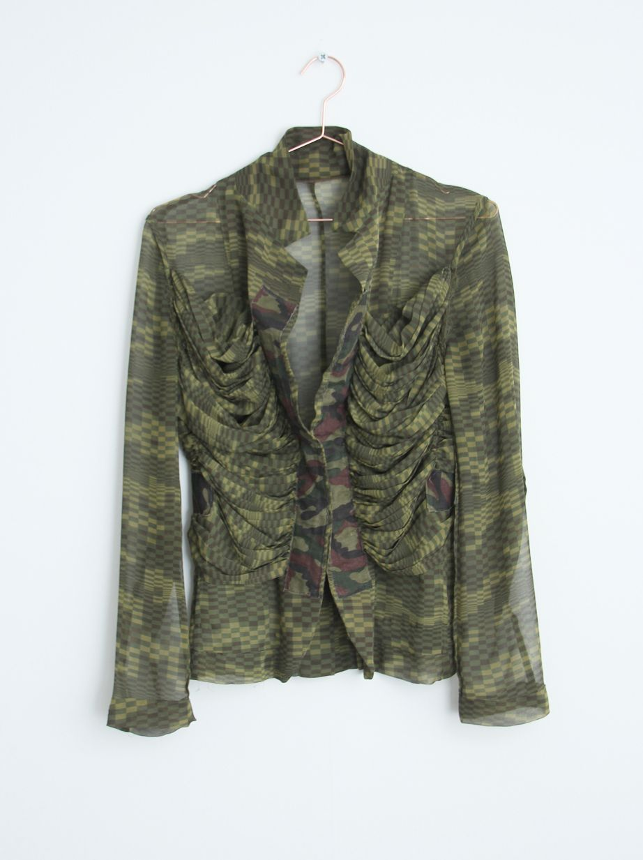 Comme des Garcons runway vintage 249,- http://colorblindstore.com/shop/vintage/treasure-comme-des-garcons-transparant-army-jacket/