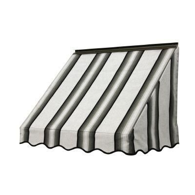 Nuimage Awnings 6 Ft 3700 Series Fabric Window Awning 28 In H X 24 In D In Grey Black White Green Canvas Awnings Window Awnings Aluminum Awnings