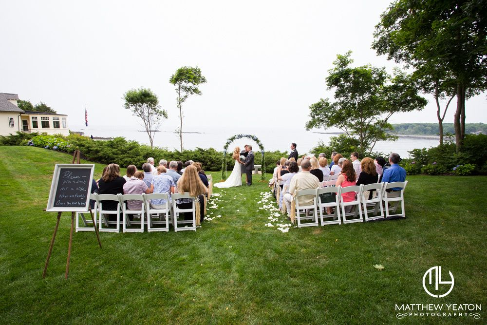 Hartley Mason Reserve Ceremony With Freestanding Arbor York Harbor Inn Weddings Matthew Yeaton Photography