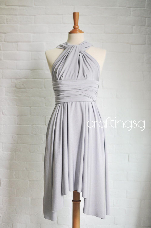 Brautjungfer Kleid Infinity Kleid grau/silber/Knie von craftingsg ...