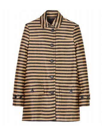 55afbe675319 Burberry Prorsum - RAFFIA WOVEN STRIPED COAT - mytheresa.com GmbH Ladies  Coat Design,