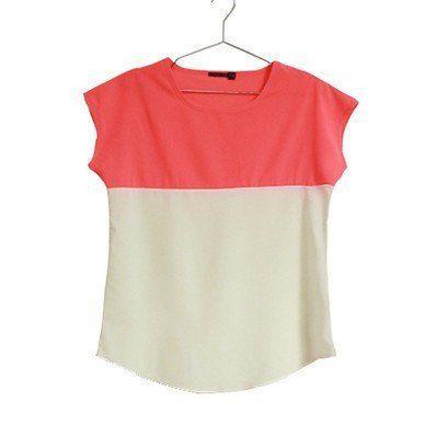 2017 New Korean Style Chiffon T-Shirt Patchwork Summer Women T-shirt O – Enso Store