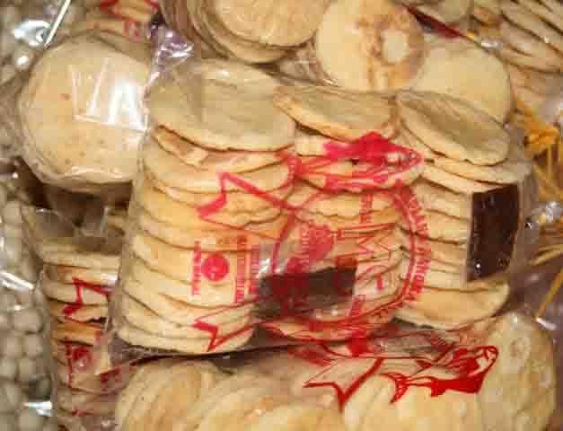 Indonesia Sumatera Bangka Belitung Island Krupuk Bangka Fish Crackers Keripik Camilan Kue