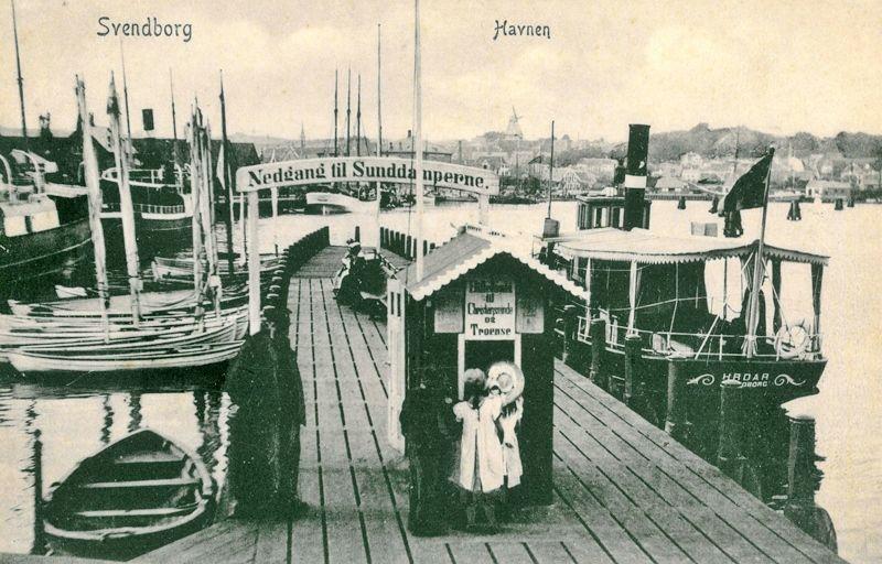 S S Hroar For 1900 16 Brt Svendborg Havn Monet Faerge