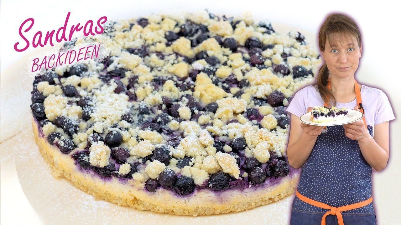 Schneller Blaubeer Quark Kuchen Mit Streuseln Heidelbeer Quark Kuchen Heidelbeerstreuselkuchen Kuchen Rezepte Kuchen