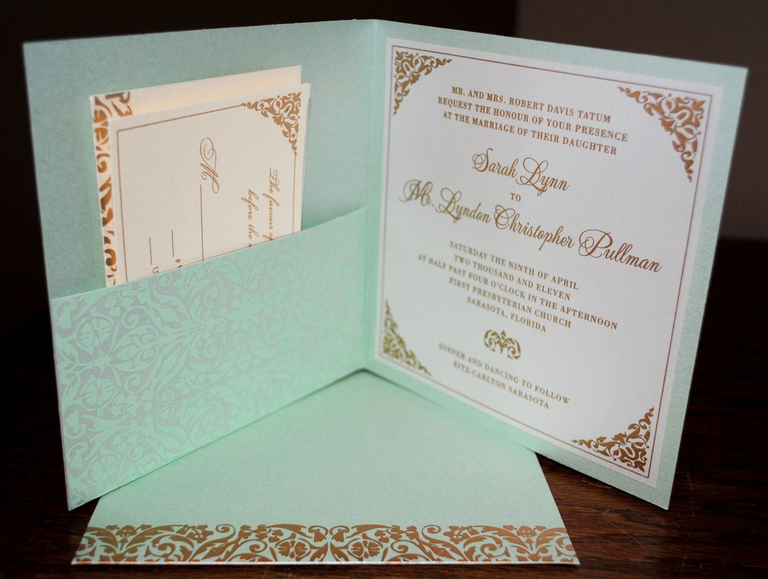 Diy Pocket Wedding Invitations Template In