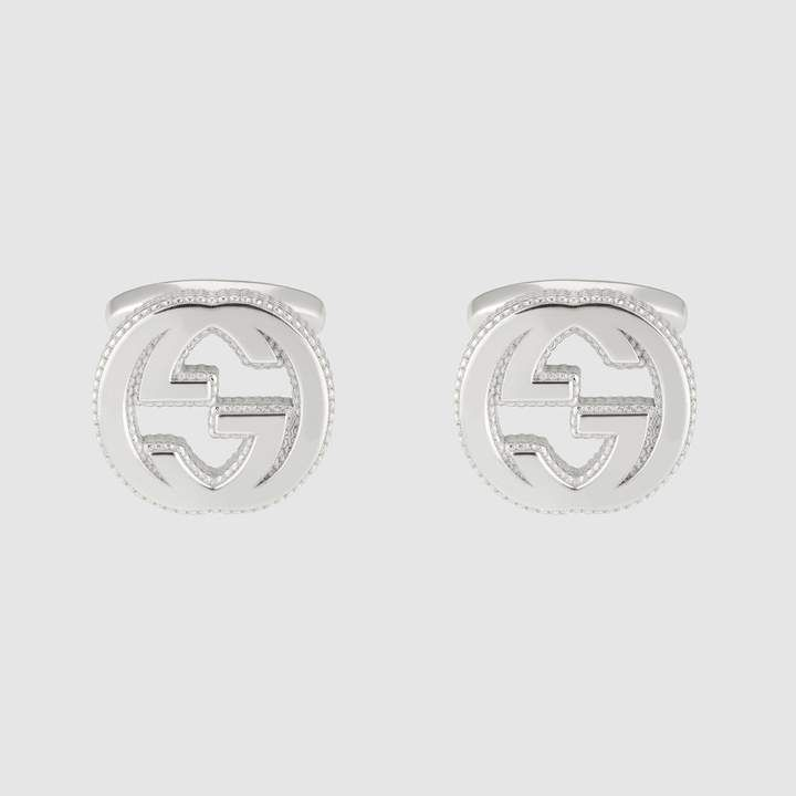 5e0984ca4 Interlocking G cufflinks in silver in 2018 | Products | Pinterest ...