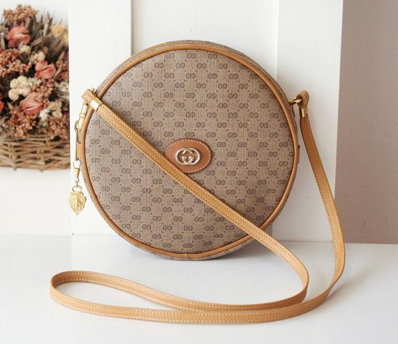 43d5e16c1a7 All Cleaned up   Cared Item Gucci Vintage Round Monogram Shoulder bag in  excellent condition. Body is really intact and Metal is still shinning.