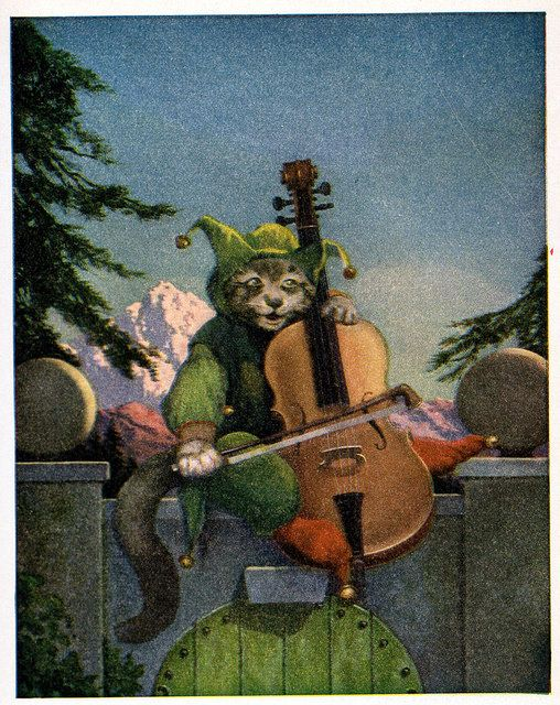 """Hey Diddle Diddle """"A Tiny Book of Nursery Rhymes from Mother Goose"""" illustrated by Chester Van Nortwick. Copyrighted 1934 by The Harter Publishing Co. of Cleveland, OH."""