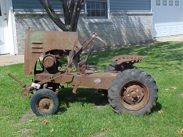 Garden All Pup Garden Tractor Homemade Tractor Vintage Tractors