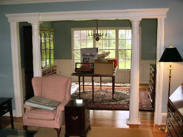 Column To Separate Dining Room And Living Area Dream Home Pinterest Columns Room And Moldings