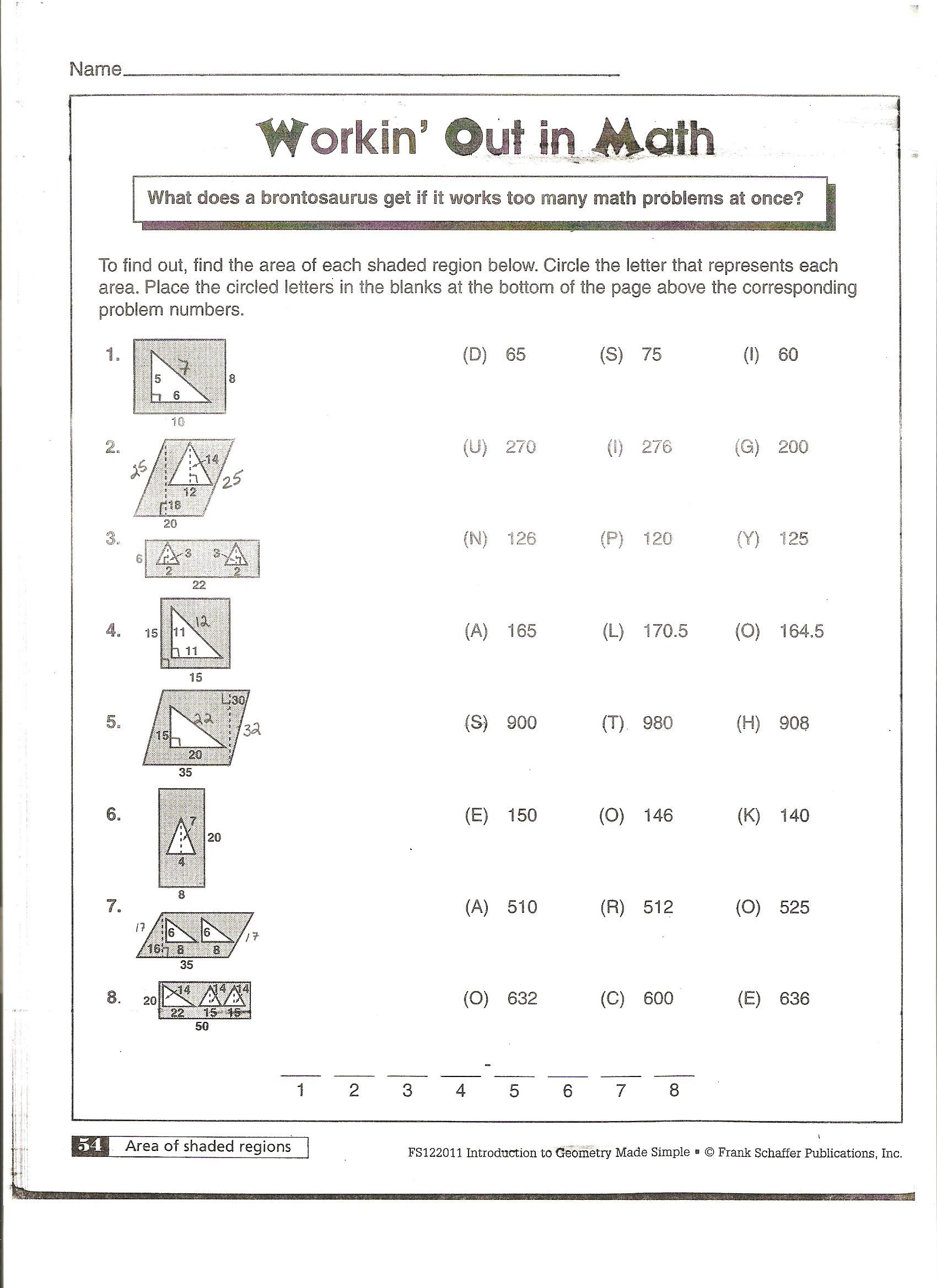 McAnelly's Geometry 2010-11   Perimeter worksheets [ 2338 x 1700 Pixel ]
