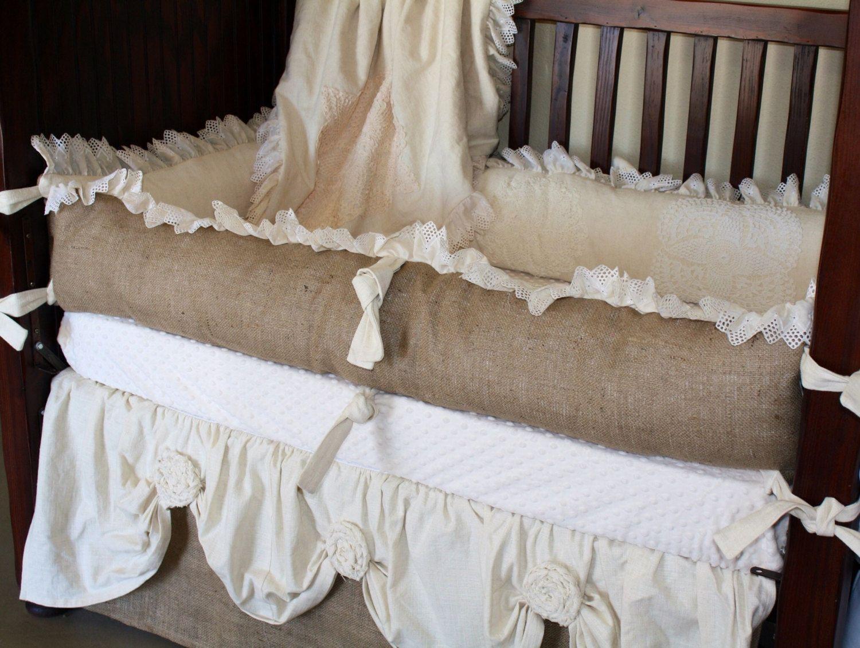 One of a kind Vintage crib bedding by RockingHorseBedding on Etsy ...